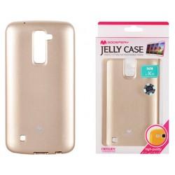 """Auksinės spalvos dėklas Mercury Goospery """"Jelly Case"""" LG K10 K430 telefonui"""