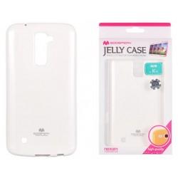 """Baltas dėklas Mercury Goospery """"Jelly Case"""" LG K10 K430 telefonui"""