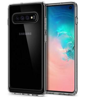 "Skaidrus dėklas Samsung Galaxy S10 telefonui ""Spigen Crystal Hybrid"""