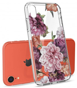 "Skaidrus dėklas Apple iPhone XR telefonui ""Spigen Ciel Rose Floral"""