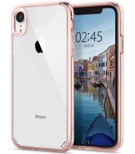 """Rausvai auksinės spalvos dėklas Apple iPhone XR telefonui """"Spigen Ultra Hybrid"""""""