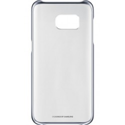 "Originalus juodas dėklas ""Clear Cover"" Samsung Galaxy S7 G930 telefonui ef-qg930cbe"