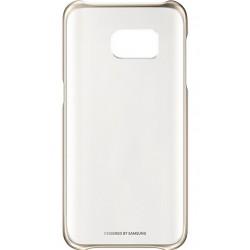 """Originalus auksinės spalvos dėklas """"Clear Cover"""" Samsung Galaxy S7 G930 telefonui ef-qg930cfe"""