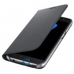 """Originalus juodas atverčiamas dėklas """"Flip Wallet"""" Samsung Galaxy S7 G930 telefonui ef-wg930pbe"""