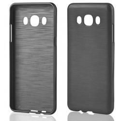"""Samsung Galaxy J5 2015 J510 Juodas silikoninis telefono dėklas """"Jelly Metallic"""""""