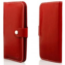 """Raudonas universalus atverčiamas telefono dėklas 4.0""""-4.7"""" telefonams"""