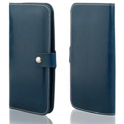"""Mėlynas universalus atverčiamas telefono dėklas 5.0""""-6.0"""" telefonams"""