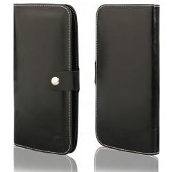 """Juodas universalus atverčiamas telefono dėklas 5.0""""-6.0"""" telefonams"""