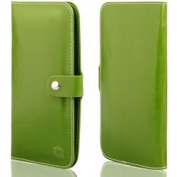 """Žalias universalus atverčiamas telefono dėklas 5.0""""-6.0"""" telefonams"""