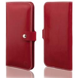 """Raudonas universalus atverčiamas telefono dėklas 5.0""""-6.0"""" telefonams"""
