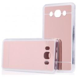 """Rausvai auksinės spalvos silikoninis dėklas Samsung Galaxy J5 2016 J510 telefonui """"Mirror"""""""
