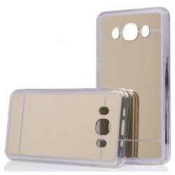 """Auksinės spalvos silikoninis dėklas Samsung Galaxy J5 2016 J510 telefonui """"Mirror"""""""