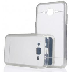 """Sidabrinės spalvos silikoninis dėklas Samsung Galaxy J3 2016 J320 telefonui """"Mirror"""""""
