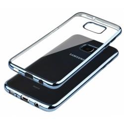 """Mėlynas silikoninis dėklas Samsung Galaxy S6 Edge G925 Telefonui """"Glossy"""""""