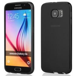 Juodas plonas 0,3mm silikoninis dėklas Samsung Galaxy S6 G920 telefonui