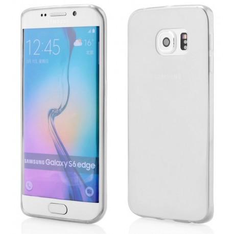 Skaidrus plonas 0,3mm silikoninis dėklas Samsung Galaxy S6 Edge telefonui
