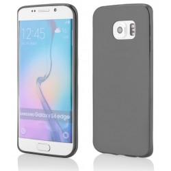 Juodas plonas 0,3mm silikoninis dėklas Samsung Galaxy S6 Edge telefonui