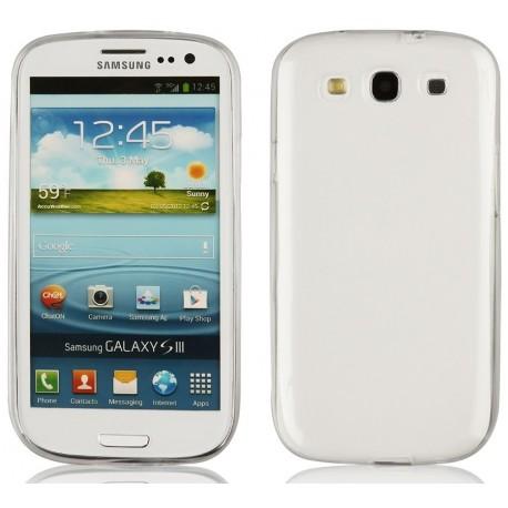 Skaidrus plonas 0,3mm silikoninis dėklas Samsung Galaxy S3/S3 Neo telefonui