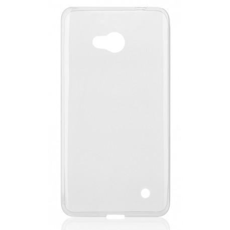 """Skaidrus silikoninis dėklas Microsoft Lumia 640 telefonui """"Fitty"""""""