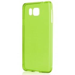 Žalias plonas 0,3mm silikoninis dėklas Samsung Galaxy Alpha telefonui