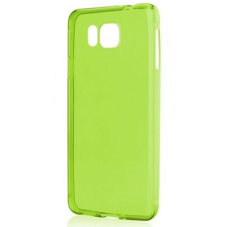 Žalias plonas 0,3mm silikoninis dėklas Samsung Galaxy Alpha G850 telefonui
