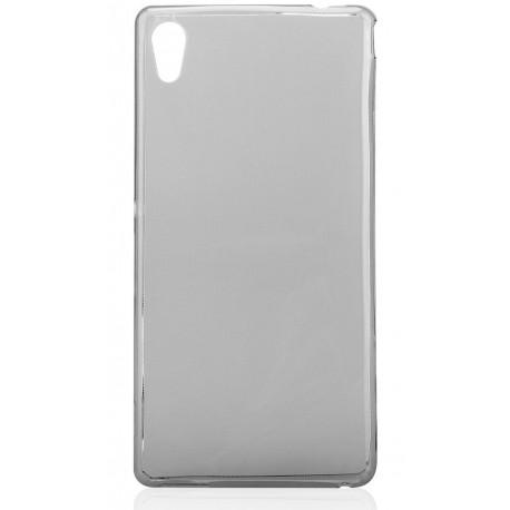 Juodas plonas 0,3mm silikoninis dėklas Sony Xperia M4 Aqua telefonui