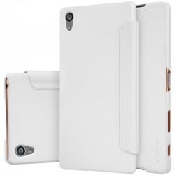 """Atverčiamas baltas dėklas Sony Xperia Z5 Telefonui """"Nillkin Sparkle"""""""
