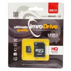 Atminties kortelė MicroSD IMRO 32GB su adapteriu UHS I Class 10
