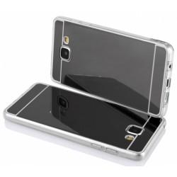 """Juodas silikoninis dėklas LG K10 K430 telefonui """"Mirror"""""""