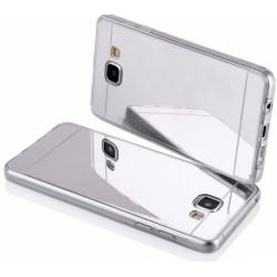 """Sidabrinės spalvos silikoninis dėklas LG K10 K430 telefonui """"Mirror"""""""