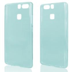 Mėlynas plonas 0,3mm silikoninis dėklas Huawei P9 telefonui