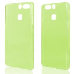 Žalias plonas 0,3mm silikoninis dėklas Huawei P9 telefonui