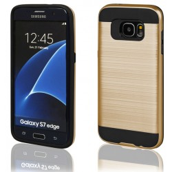"""Auksinės spalvos dėklas Samsung Galaxy S7 Edge G935 telefonui """"Motomo"""""""
