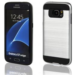"""Sidabrinės spalvos dėklas Samsung Galaxy S7 Edge G935 telefonui """"Motomo"""""""