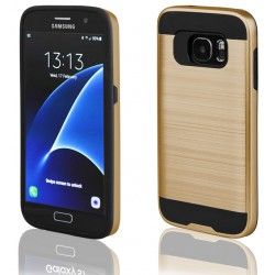 """Auksinės spalvos dėklas Samsung Galaxy S7 G930 telefonui """"Motomo"""""""