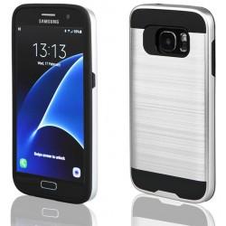 """Sidabrinės spalvos dėklas Samsung Galaxy S7 G930 telefonui """"Motomo"""""""