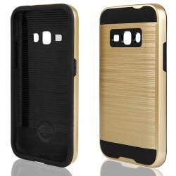 """Auksinės spalvos dėklas Samsung Galaxy J1 2016 J120 telefonui """"Motomo"""""""