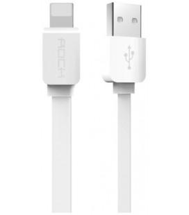 """Baltas USB - Lightning 2.1A laidas 200cm """"ROCK""""CABLE 200CM WHITE"""