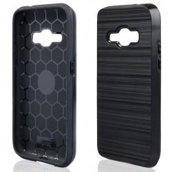 """Juodas dėklas Samsung Galaxy J1 2016 J120 telefonui """"Motomo Metallic"""""""