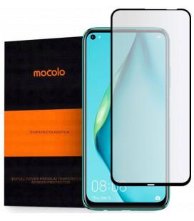 """Juodas apsauginis grūdintas stiklas Huawei P40 Lite telefonui """"Mocolo TG Full Glue"""""""