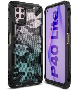 """Juodas (Camo) dėklas Huawei P40 Lite telefonui """"Ringke Fusion X"""""""