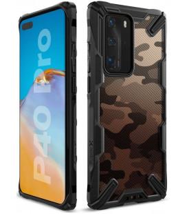 """Juodas (Camo) dėklas Huawei P40 Pro telefonui """"Ringke Fusion X"""""""