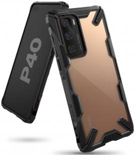"""Juodas dėklas Huawei P40 telefonui """"Ringke Fusion X"""""""