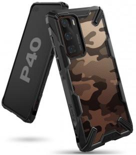 """Juodas (Camo) dėklas Huawei P40 telefonui """"Ringke Fusion X"""""""