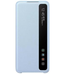 """Originalus mėlynas atverčiamas dėklas """"Clear S-View Case"""" Samsung Galaxy S20 telefonui """"EF-ZG980CLE"""""""