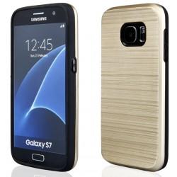 """Auksinės spalvos dėklas Samsung Galaxy S7 G930 telefonui """"Motomo Metallic"""""""