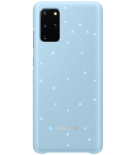 "Originalus mėlynas dėklas ""LED Cover"" Samsung Galaxy S20 Plus telefonui ""EF-KG985CLE"""