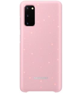 """Originalus rožinis dėklas """"LED Cover"""" Samsung Galaxy S20 telefonui """"EF-KG980CPE"""""""
