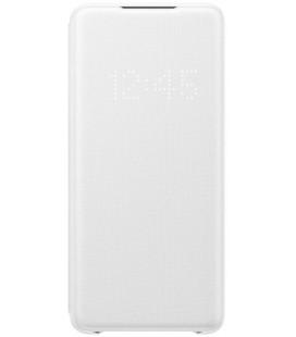 """Originalus baltas atverčiamas dėklas """"LED S-View Case"""" Samsung Galaxy S20 Plus telefonui """"EF-NG985PWE"""""""