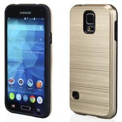 """Auksinės spalvos dėklas Samsung Galaxy S5 G900 telefonui """"Motomo Metallic"""""""